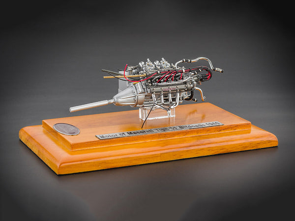 Engine with Display Showcase from 1960 Maserati Tipo 61 Birdcage 1/18 Diecast Model by CMC