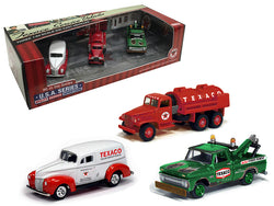 Texaco Service Vehicles (3 Vehicle Set) USA Series #6 1/64 Diecast Models by Autoworld