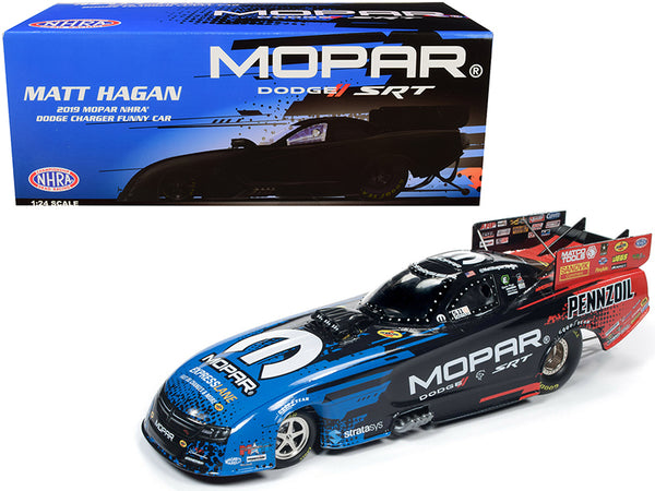 2019 MOPAR NHRA Dodge Charger Funny Car Matt Hagan 1/24 Diecast Model Car by Autoworld