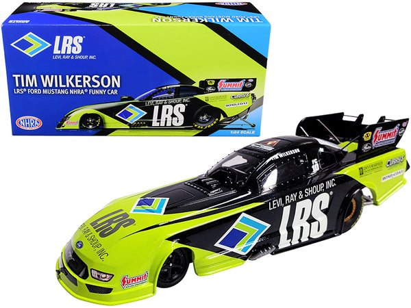 "2020 LRS Ford Mustang Tim Wilkerson ""LRS"" NHRA Funny Car 1/24 Diecast Model Car by Autoworld"