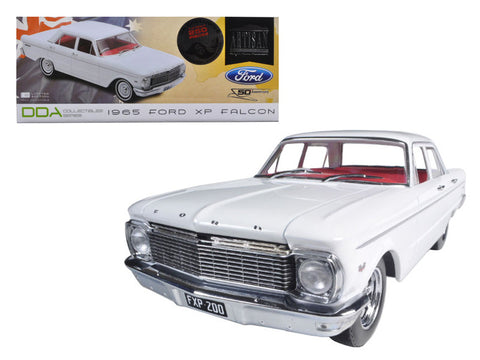 "1965 Ford XP Falcon White ""50th Anniversary"" Limited to 250pcs with Certificate of Authenticity & Mag Wheels 1/18 Diecast Model Car by Greenlight"