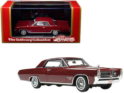 1964 Pontiac Grand Prix Marimba Red with White Interior Limited Edition to 230 pieces Worldwide 1/43 Model Car by Goldvarg Collection