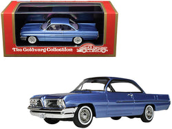 1961 Pontiac Catalina Twilight Mist Blue Metallic Limited Edition to 220 pieces Worldwide 1/43 Model Car by Goldvarg Collection