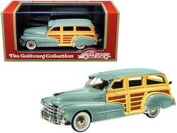 1948 Pontiac Streamlined Woodie Genesee Green Limited Edition to 270 pieces Worldwide 1/43 Model Car by Goldvarg Collection