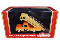 "1965 Ford Airport Stairs Truck ""Braniff International"" Orange and Yellow Limited Edition to 150 pieces Worldwide 1/43 Model by Goldvarg Collection"