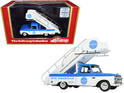 "1965 Ford Airport Stairs Truck ""Pan American - PAN AM"" Blue and White Limited Edition to 190 pieces Worldwide 1/43 Model by Goldvarg Collection"