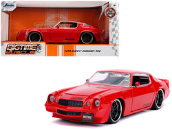 "1979 Chevrolet Camaro Z28 Glossy Red ""Bigtime Muscle"" 1/24 Diecast Model Car by Jada"
