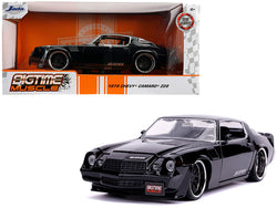 "1979 Chevrolet Camaro Z28 Glossy Black ""Bigtime Muscle"" 1/24 Diecast Model Car by Jada"