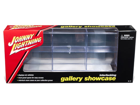 6 Car Interlocking Acrylic Display Show Case for 1/64 Scale Model Cars by Johnny Lightning