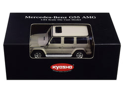 Mercedes Benz G55 AMG Gray 1/64 Diecast Model Car by Kyosho