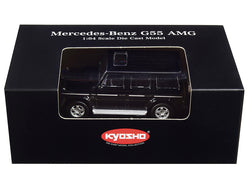 Mercedes Benz G55 AMG Black 1/64 Diecast Model Car by Kyosho