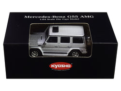 Mercedes Benz G55 AMG Silver 1/64 Diecast Model Car by Kyosho