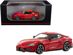 Toyota GR Supra RHD (Right Hand Drive) Red 1/64 Diecast Model Car by Kyosho