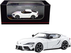 Toyota GR Supra RHD (Right Hand Drive) White 1/64 Diecast Model Car by Kyosho