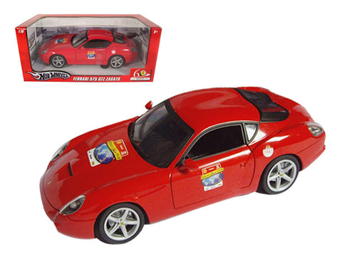 "Ferrari 575 GTZ Red ""60 Anniversary"" Edition 1/18 Diecast Model Car by Hotwheels"