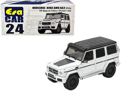 Mercedes Benz AMG G63 White with Black Top 1st Special Edition 1/64 Diecast Model Car by Era Car