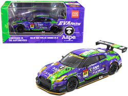 "Nissan EVA RT Test Type-01 X Works GT-R #33 Super GT300 Series (2019) ""Poprace"" 1/64 Diecast Model Car by True Scale Miniatures"