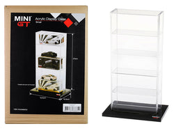 "5 Car Acrylic Display Show Case Small ""Mini GT"" for 1/64 Scale Model Cars by True Scale Miniatures"