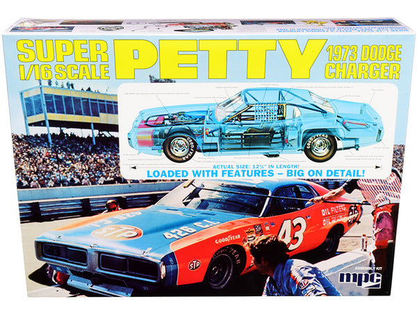 1973 Dodge Charger Richard Petty Plastic Model Kit (Skill Level 3) 1/16 Scale Model by MPC
