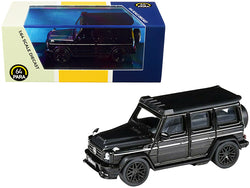 Mercedes AMG G63 Liberty Walk Wagon Black 1/64 Diecast Model Car by Paragon