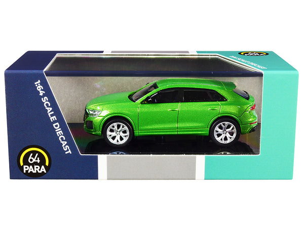 Audi RS Q8 Java Green Metallic 1/64 Diecast Model Car by Paragon