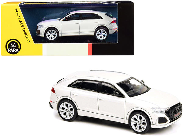 Audi RS Q8 White 1/64 Diecast Model Car by Paragon