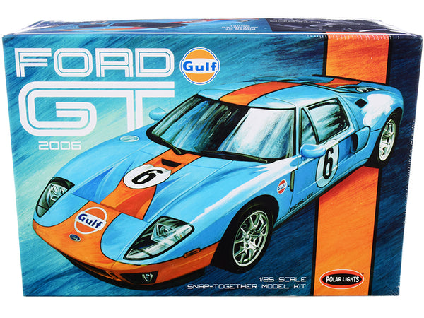 "2006 Ford GT ""Gulf Oil"" Plastic Snap Model Kit (Skill Level 2) 1/25 Scale Model by Polar Lights"