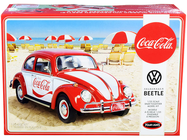 "Volkswagen Beetle ""Coca-Cola"" Plastic Snap Model Kit (Skill Level 3) 1/25 Scale Model by Polar Lights"""