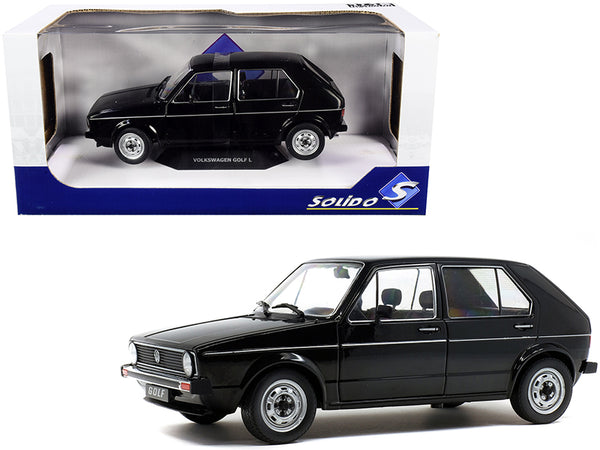 1983 Volkswagen Golf L Black 1/18 Diecast Model Car by Solido