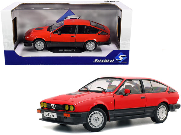 1984 Alfa Romeo GTV 6 Alfa Red 1/18 Diecast Model Car by Solido