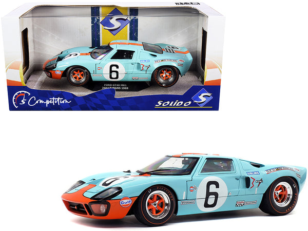 "Ford GT40 MK1 #6 J. Ickx - J. Olivier ""Gulf Oil"" Winner 24 Hours of Le Mans (1969) ""Competition"" Series 1/18 Diecast Model Car by Solido"