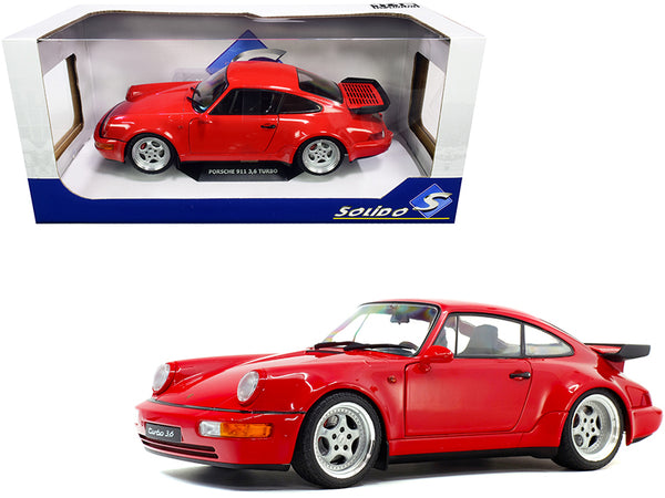 1990 Porsche 911 964 Turbo 3.6 Rouge Red 1/18 Diecast Model Car by Solido