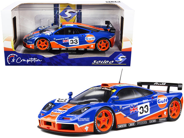"McLaren F1 GTR #33 R. Bellm - J.J. Lehto - J. Weaver ""Gulf Oil"" 24 Hours of Le Mans (1996) ""Competition"" Series 1/18 Diecast Model Car by Solido"
