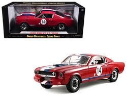 1965 Ford Shelby Mustang GT350R Red #14 1/18 Diecast Model Car by Shelby Collectibles