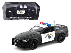 2013 Ford Mustang Boss 302 Highway Patrol Car 1/18 Diecast Model Car by Shelby Collectibles