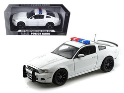 2013 Ford Mustang Boss 302 White Unmarked Police Car 1/18 Diecast Model Car by Shelby Collectibles