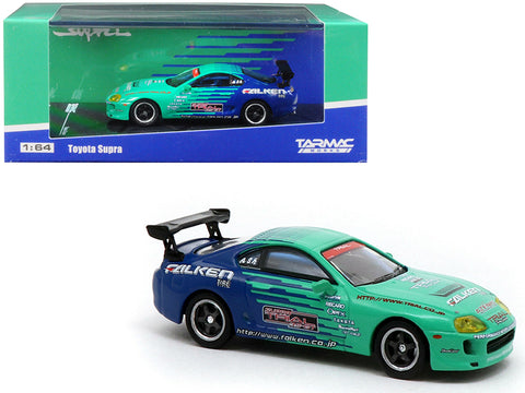 "Toyota Supra ""Falken Tires"" 1/64 Diecast Model Car by Tarmac Works"