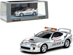 "Toyota Supra Safety Car ""Official Pace Car"" Silver 1/64 Diecast Model Car by Tarmac Works"