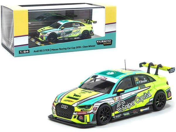 Audi RS 3 TCR #26 Filipe de Souza Macau Touring Car Cup (2019) 1950cc Class Winner 1/64 Diecast Model Car by Tarmac Works