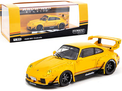 "Porsche RWB 993 ""Cinderella"" #6 Yellow (Thailand Exclusive) ""RAUH-Welt BEGRIFF"" 1/64 Diecast Model Car by Tarmac Works"