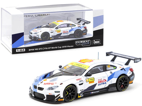 "BMW M6 GT3 #42 Augusto Farfus ""Shell Helix Ultra"" FIA GT World Cup Macau (2019) 1/64 Diecast Model Car by Tarmac Works"