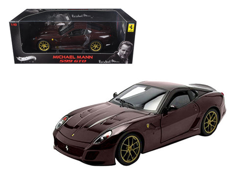 Michael Mann's Ferrari 599 GTO Burgundy Elite Edition 1/18 Diecast Model Car by Hotwheels