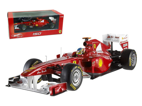 Ferrari 150 Italia F2011 Fernando Alonso 1/18 Diecast Model Car by Hotwheels