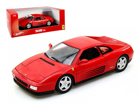 Ferrari 348 TB Red 1/18 Diecast Model Car by Hotwheels
