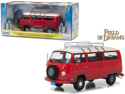 "1973 Volkswagen Bus Type 2 (T2B) Red ""Field of Dreams"" Movie (1989) 1/24 Diecast Model by Greenlight"