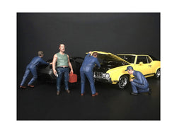 """Mechanics Classic"" (4 Figure Set) for 1/18 Scale Models by American Diorama"