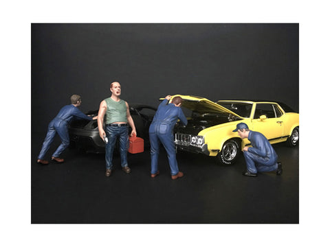 """Mechanics Classic"" (4 Figure Set) for 1/18 Diecast Models by American Diorama"