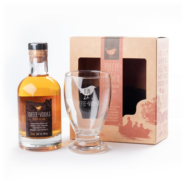 Kin Glass + 200ml bottle gift pack