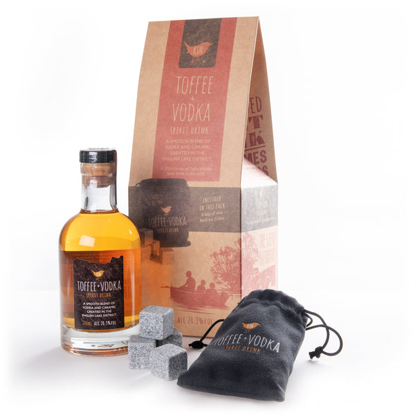 Kin Toffee Vodka and ice blocks gift set
