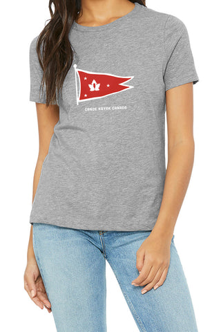 Women's Steadfast Tee - Burgee - Light Grey / T-shirt Inébranlable pour Femmes - Burgee -Gris